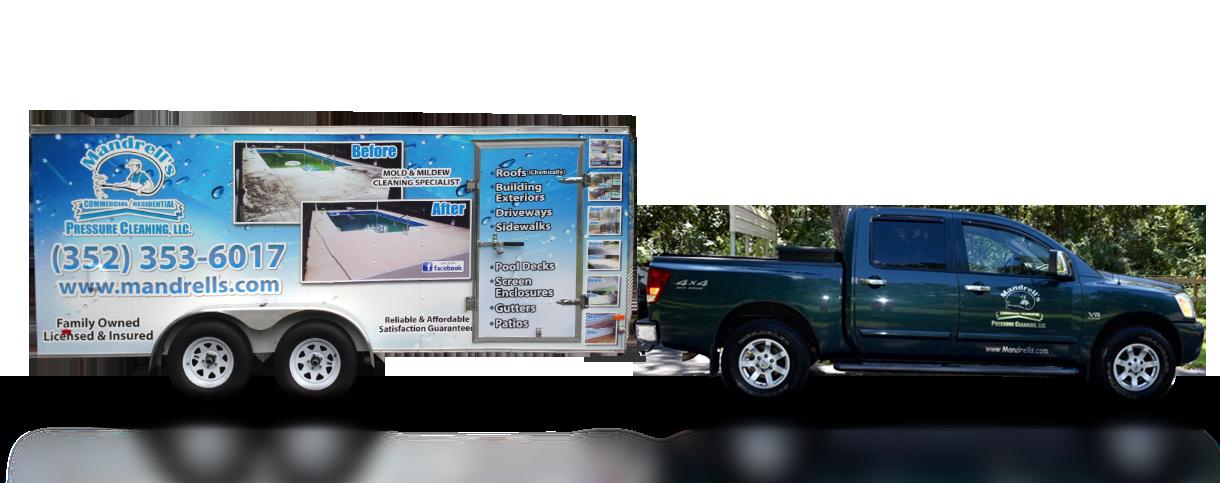 mandrells pressure cleaning truck
